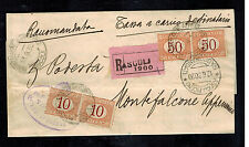 1930 Ascoli Italy Receipt Registered Cover to Montefalcone