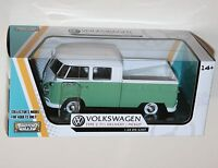 Motor Max - VW VOLKSWAGEN Type 2 (T1) Delivery / PickUp (Green) Model Scale 1:24