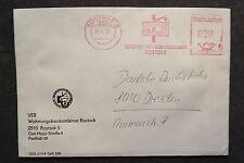 DDR Firmen Stempel - VEB Wohnungsbau Kombinat Rostock - Brief /S1