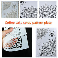 Layering Stencils Template For Coffee Pattern Plate Scrapbooking DIY Craft