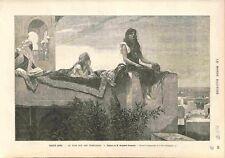 Turquie Le Soir sur les terrasses Montréal musée des Beaux-Arts GRAVURE 1882