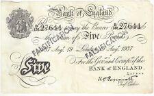 Peppiatt Five Pounds £5 Banknote WW2 Operation Bernhard Nazi Forgery
