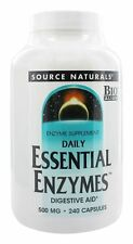 Source Naturals Daily Essential Enzymes 500 mg 240 Capsules Digestive Aid