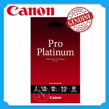 """Canon Genuine PT-101 4x6"""" 20 Sheets Pro Platinum Photo Paper 300GSM->MX726/MX926"""