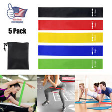New listing 5X Heavy Duty Resistance Bands Set Loop for Gym Exercise Pull up Fitness Workout