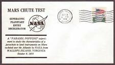 US Space Cover 1970. Mars Chute Test. SPED II Re-entry Vehicle Test