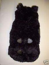 "New Friends Forever Pet Faux Fur/Fleece Hooded Dog Coat Jacket Black M 13.5-15"""