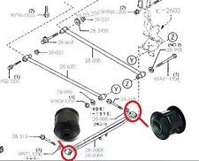 x2 Rear Trailing Control Rod Arm Lateral Link Wishbone Bush Bushes Mazda Premacy