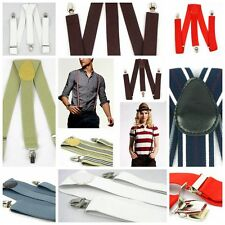 Men's Women Braces Y-back Suspenders Fashion Belts Adjustable Metal Clip-on
