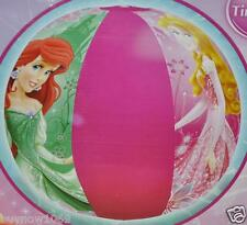 "6 PRINCESS BEACH BALL 20"" PARTY FAVORS DISNEY TOY ARIEL AURORA BIRTHDAY gifts"
