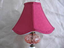 SHABBY CHIC  MILK GLASS ITALIAN MARBLE BLOWN GLASS TABLE LAMPS + NEW SHADES