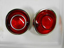 64 CHEVROLET IMPALA BELAIR BISCAYNE NOS TAIL LIGHT BEZELS & LENSES
