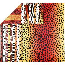 10 x A4 Card Stock Animal Print Design Double-Sided Premium Scrapbook Craft 300g