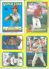 1988 O-Pee-Chee Baseball Sticker & Stickerback Variations You Pick!