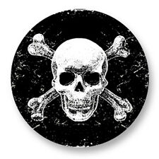 "Pin Button Badge Ø25mm 1"" Tete de Mort Skull Crâne Danger"