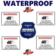 STICKERS FOR HOME SECURITY ALARM CAMERAS+ BRINKS WARNING STICKER DECAL SIGN LOT