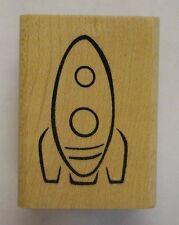 Rubber Stamp Toy Rocket - wood mounted DE
