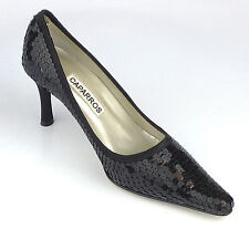 CAPARROS WATERLOO F8841 BLACK SILK HEELS SIZE 5B