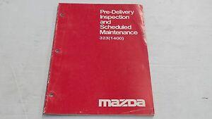 MAZDA 323 1400 PRE-DELIVERY INSPECTION & MAINTENANCE BOOK ORIGINAL GENUINE