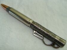 LEVER ACTION BULLET PEN  30-06 OR .270 NICKEL RIFLE CASING LEVER  POCKET CLIP