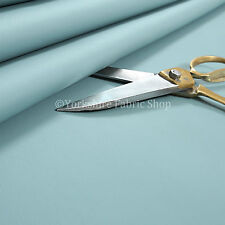 Soft Texture Feel Faux Leather PVC Material Upholstery Fabric Vinyl New Sky Blue