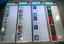 """Home Elements Holiday Peel""""N""""Stick Gift Seals 12 New Packages of 24 ea 4 Designs"""