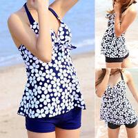 New Sexy Ladies Swimwear Swimsuit Beach Dress Tankini UK Size 6 8 10 12 #tfnn