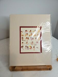 "Norman Rockwell Matted Print Of ""A Day In The Life Of A Little Girl"" 8 x 10"