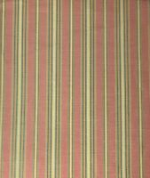 Salmon Gold Yellow Sage Classic Stripe 100% Linen Drapery Upholstery Fabric BTY