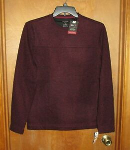 "Men's ""Van Heusen"" Size S, Rhododendron(Wine), Crew Neck, Lg Slv, Sweater Fleece"