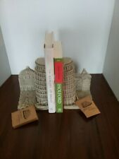 Historical Wonders By TMS, Inc  Set Of 2 Leaning Tower Of Pisa Resin Book...