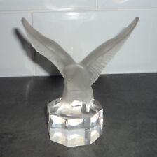 Vintage Goebel Frosted Glass Eagle Desk Ornament Figurine Paper weight