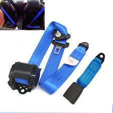 Automatic Blue Strap 3-Point Retractable Vehicle Car Safety Seat Belt Buckle Kit
