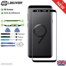 Samsung Galaxy S9 Front Glass Screen Lens Replacement Repair Kit BLACK