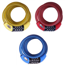 Squire 216 Combination Cable Lock - 10mm x 1800mm - Red / Yellow / Blue
