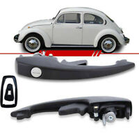 VW BUG BEETLE DOOR BLACK HANDLE OUTER FRONT VOLKSWAGEN TYPE1 68-77 T3 Ghia Buffe