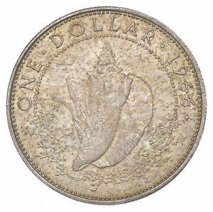 SILVER - WORLD COIN - 1966 Bahama Islands 1 Dollar - World Silver Coin *054