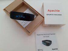 Apachie Activity Tracker Sports Band Black Alarm Sleep Monitor Apple Android