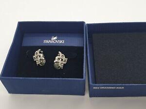 Swarovski Clip on Earrings Rhodium plated