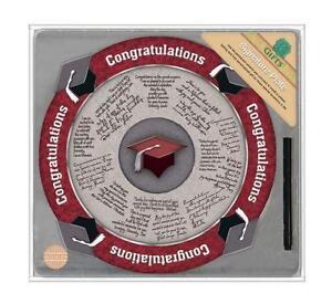 "Graduation 12"" Signature Plate Ceramic Marker and Display Easel Congratulations"