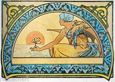 Alphonse Maria Mucha Waterlily, 1898 Giclee Canvas Print 12''x16''