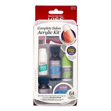 New KISS Complete Salon Acrylic Kit 64 Tips #00002 AK120