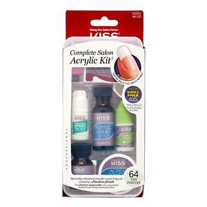 New KISS Complete Salon Acrylic Kit 64 Nails Tips #00002 AK120