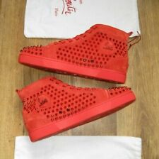 CHRISTIAN LOUBOUTIN POPPY RED SPIKES TRAINERS SNEAKERS SHOES SIZE 11.5 12.5 45.5