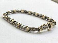 1/2 ct diamond tennis bracelet 10k Two-Tone Gold