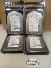 - LOT OF 4 Hitachi 73 GB   SAS Server HDD  HUS151473VLS300 0WR767 W/CADDY 0F9541