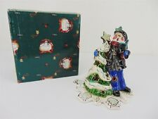Blue Sky Clayworks Victorian Boy Caroler Heather Goldminc Christmas Tea Light