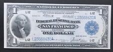 $1 SERIES OF 1918 NATIONAL CURRENCY / ELLIOTT BURKE SIGNATURES/ SAN FRANCISCO