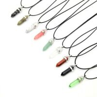 Crystal Pendant Necklace Up to 25% off Healing Crystal Pendant Point - FAST P&P