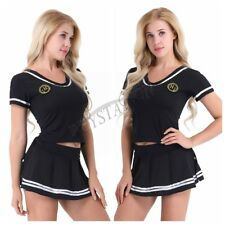 Women Cheer Leader Sailor Suit Outfit Fancy Dress Cosplay Costume Halloween Sexy